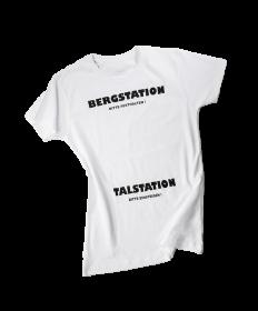 """Damen T-Shirt """"BERGSTATION - TALSTATION"""""""
